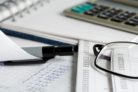 The analysis of the financial information in the check book.